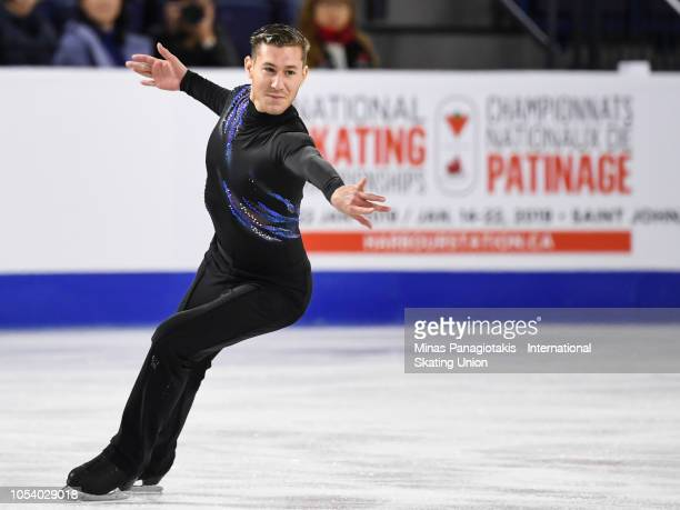 Jason Brown of the United States competes on day one during the ISU Grand Prix of Figure Skating Skate Canada International at Place Bell on October...