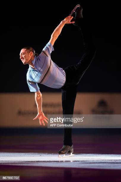 Jason Brown of the United States skates his exhibition program during the ISU Grand Prix of Figure Skating's Skate Canada International at Brandt...