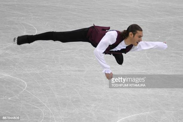 Jason Brown of the US competes during the men's short programme of the Grand Prix of Figure Skating final in Nagoya on December 7, 2017. / AFP PHOTO...