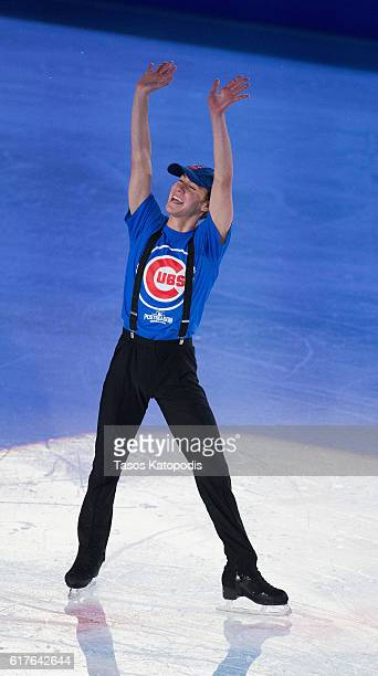 Jason Brown of the US preforms at the Smucker's Skating Spectacular at 2016 Progressive Skate America at Sears Centre Arena on October 23 2016 in...