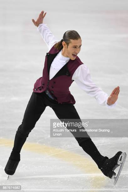 Jason Brown of the USA competes in the Men short program during the ISU Junior Senior Grand Prix of Figure Skating Final at Nippon Gaishi Hall on...