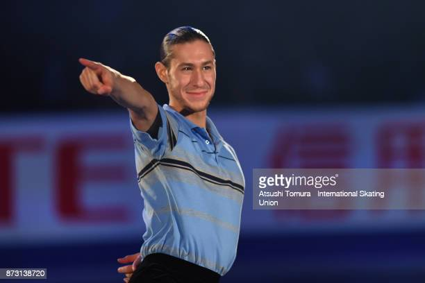 Jason Brown of the USA performs in the gala exhibition during the ISU Grand Prix of Figure Skating at Osaka municipal central gymnasium on November...