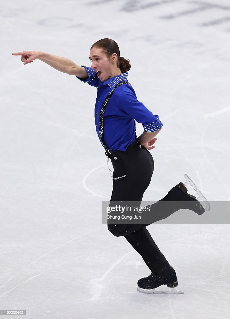 Jason Brown of United States performs during the Men Short Program on day one of the ISU Four Continents Figure Skating Championships 2015 at the Mokdong Ice Rink on February 12, 2015 in Seoul, South Korea.