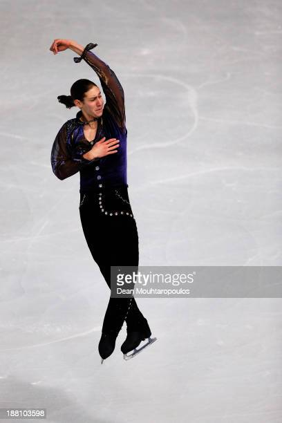 Jason Brown of USA performs in the Mens Short Program during day one of Trophee Eric Bompard ISU Grand Prix of Figure Skating 2013/2014 at the Palais...