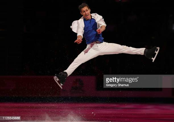 Jason Brown skates in the skating spectacular after the 2019 US Figure Skating Championships at Little Caesars Arena on January 27 2019 in Detroit...
