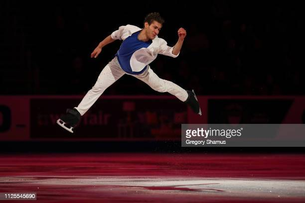 Jason Brown skates in the skating spectacular after the 2019 U.S. Figure Skating Championships at Little Caesars Arena on January 27, 2019 in...