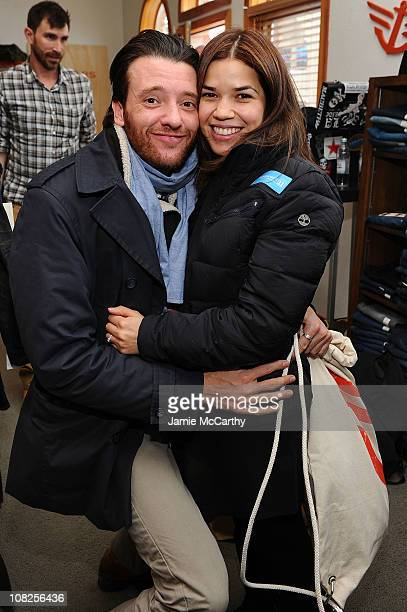 Jason Butler Harner and America Ferrera attend Levi's AE Showroom in Park City on January 22 2011 in Park City Utah