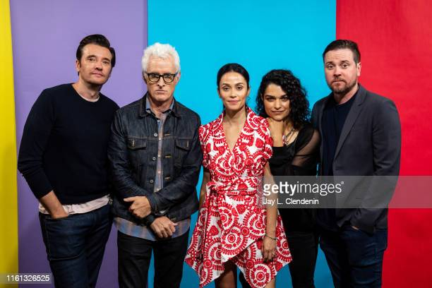 Jason Butler Harner John Slattery Fernanda Andrade Eve Harlow and Michael Mosley of 'neXT' are photographed for Los Angeles Times at ComicCon...