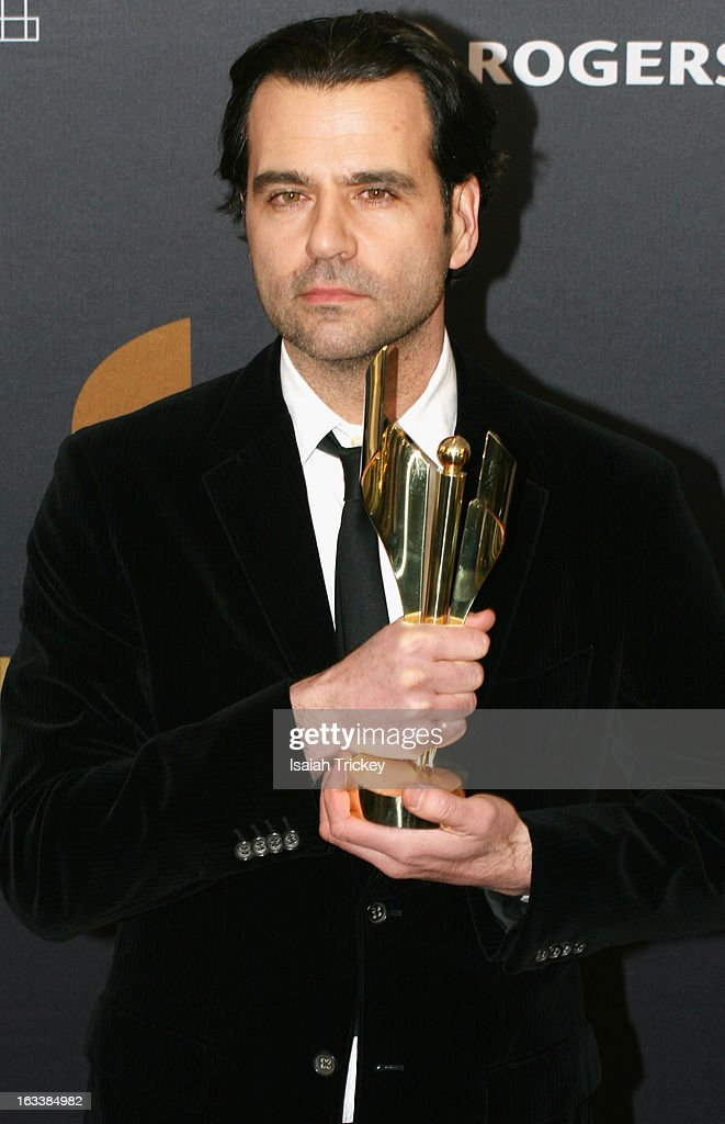 Jason Buxton, winner of the Claude Jutra Award, attends the 2013 Canadian Screen Awards at Sony Centre for the Performing Arts on March 3, 2013 in Toronto, Canada.