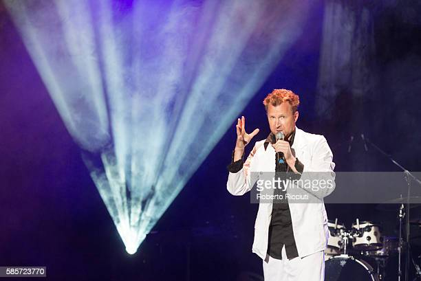 Jason Byrne performs on stage during Assembly Gala Launch for Edinburgh Festival Fringe at Assembly Hall on August 03 2016 in Edinburgh Scotland