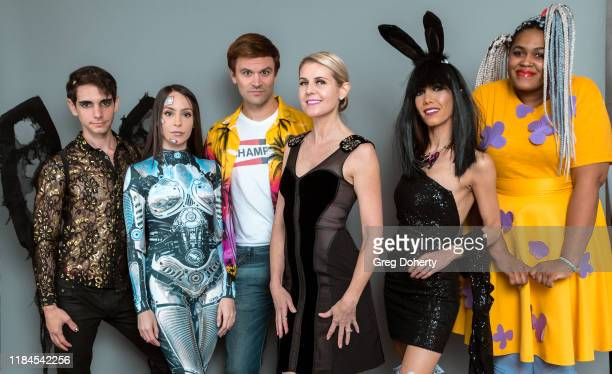 Jason Caceres, Kassandra Escandell, Kash Hovey, Kathy Kolla, Jessica Ross and Veronica Cooper pose for a portrait as Project Save Our Surf visits TAP...