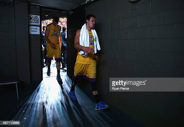 Jason Cadee of the Kings walks from the court after the round one NBL match between the Sydney Kings and the Cairns Taipans at Qantas Credit Union...