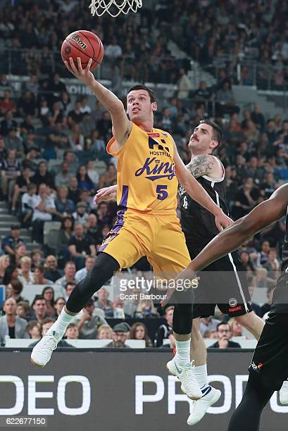 Jason Cadee of the Sydney Kings drives to the basket during the round six NBL match between Melbourne United and the Sydney Kings at Hisense Arena on...