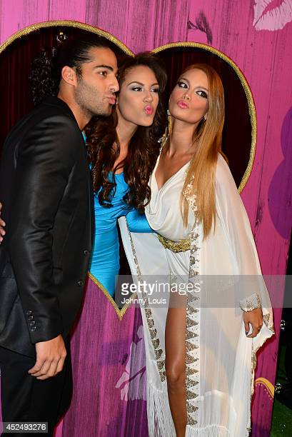 Jason Canela Nabila Tapia and Zuleyka Rivera attend the Premios Juventud 2014 Awards at Bank United Center on July 17 2014 in Miami Florida
