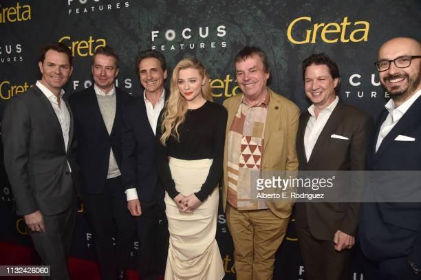Jason Cassidy, Robert Walak, Lawrence Bender, Chloe Grace Moretz, Neil Jordan, John Penotti and Peter Kujawski attend the premiere of Focus Features'...