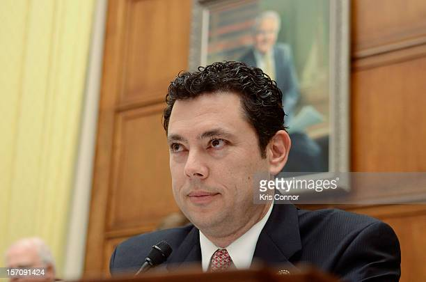 Jason Chaffetz speaks during a House of Representatives Judiciary subcommitte on Intellectual Property Competition and the Internet titled 'Music...