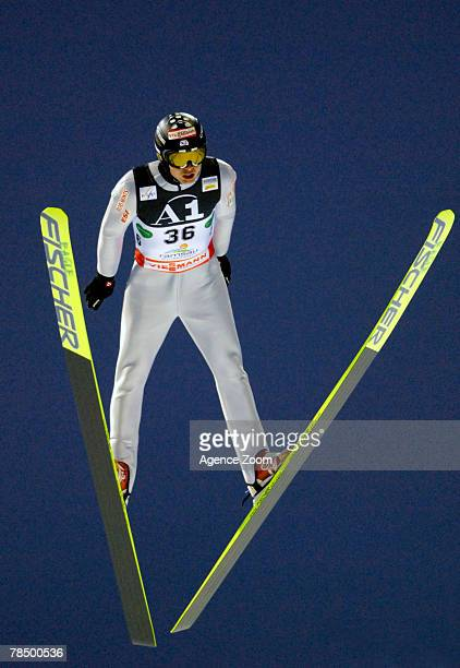 Jason Chappuis Lamy competes during the FIS Nordic Combined World Cup Gundersen HS 142/10KM Mass Start event on December 15, 2007 in Ramsau am...