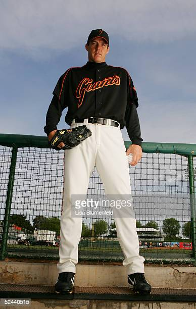 Jason Christiansen of the San Francisco Giants poses for a portrait during the San Francisco Giants Photo Day at Scottsdale Stadium on March 2 2005...