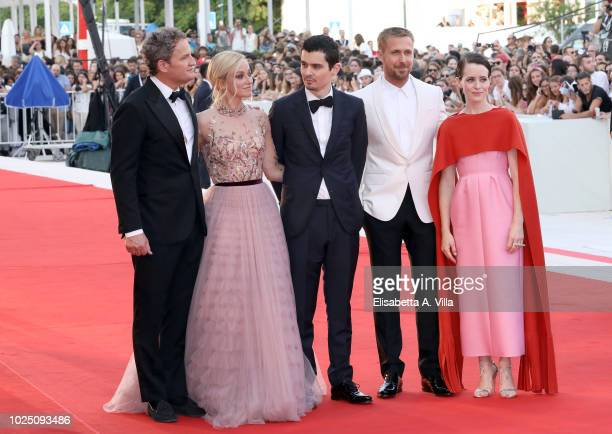 Jason Clark Olivia Hamilton Damien Chazelle Ryan Gosling and Claire Foy walk the red carpet ahead of the opening ceremony and the 'First Man'...