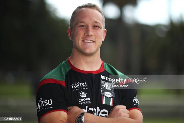 Jason Clark poses during a South Sydney Rabbitohs NRL media opportunity at Redfern Oval on September 17 2018 in Sydney Australia