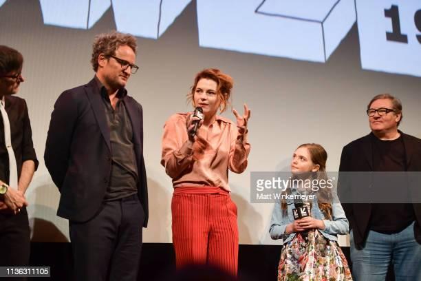 Jason Clarke Amy Seimetz Jeté Laurence and Lorenzo di Bonaventura attend the 'Pet Sematary' Premiere 2019 SXSW Conference and Festivals at Paramount...