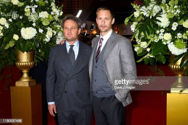 Jason Clarke and Alexander Skarsgard attend 'The Aftermath' World Premiere held at The Picturehouse Central on February 18 2019 in London England