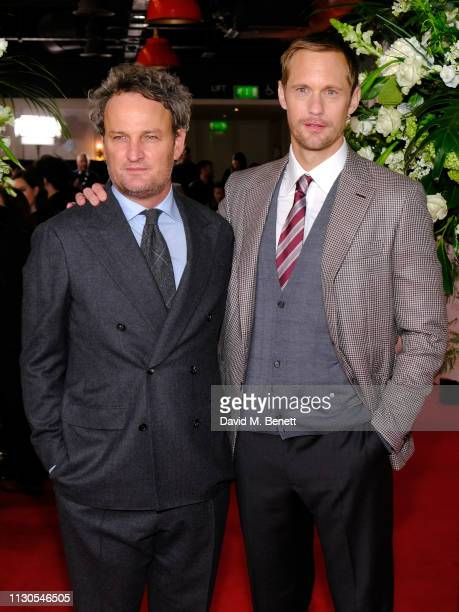 Jason Clarke and Alexander Skarsgard attend the World Premiere of 'The Aftermath' at Picturehouse Central on February 18 2019 in London England