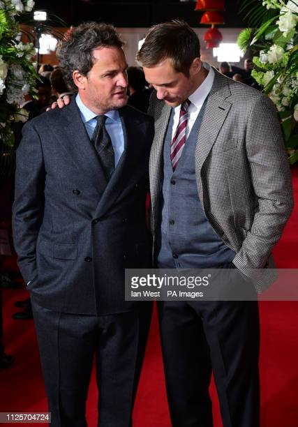 Jason Clarke and Alexander Skarsgard attending the world premiere of The Aftermath held at the Picturehouse Central Cinema London