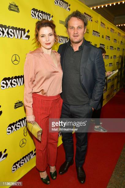 Jason Clarke and Amy Seimetz attend the 'Pet Sematary' Premiere 2019 SXSW Conference and Festivals at Paramount Theatre on March 16 2019 in Austin...