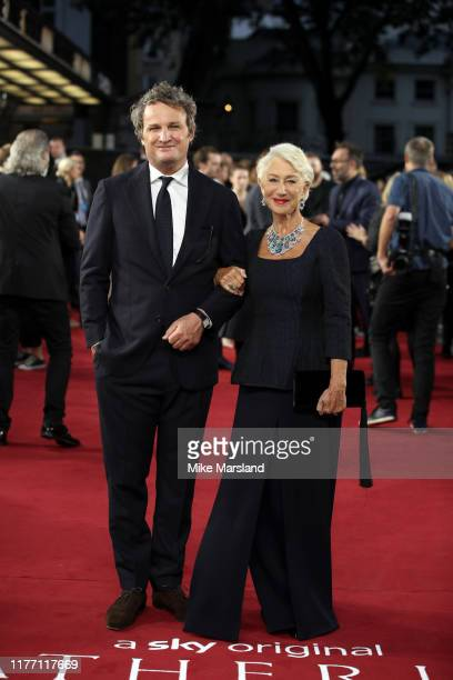 """Jason Clarke and Dame Helen Mirren attend the """"Catherine The Great"""" UK TV Premiere at The Curzon Mayfair on September 25, 2019 in London, England."""