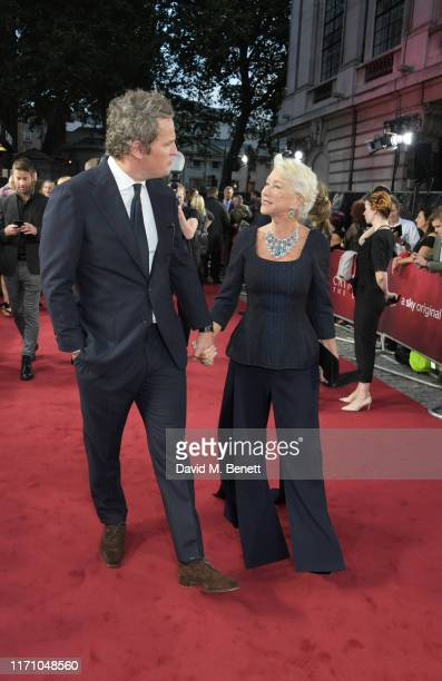 """Jason Clarke and Dame Helen Mirren attend the Premiere Screening of new Sky Atlantic drama """"Catherine The Great"""" at The Curzon Mayfair on September..."""