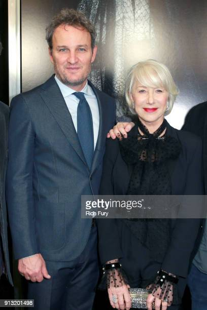 Jason Clarke and Helen Mirren attend the premiere of CBS Films' 'Winchester' at Cinemark Playa Vista on February 1 2018 in Los Angeles California