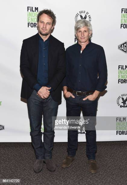 Jason Clarke and John Curran attend day 1 of the Film Independent Forum at DGA Theater on October 20 2017 in Los Angeles California
