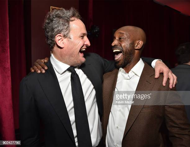 Jason Clarke and Rob Morgan attend the Netflix Golden Globes after party at Waldorf Astoria Beverly Hills on January 7 2018 in Beverly Hills...