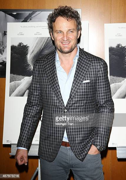 Jason Clarke arrives at the Los Angeles Premiere of 'The Better Angels' held at DGA Theater on October 27 2014 in Los Angeles California