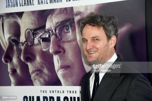 Jason Clarke attends the premiere of Entertainment Studios Motion Picture's 'Chappaquiddick' at Samuel Goldwyn Theater on March 28 2018 in Beverly...