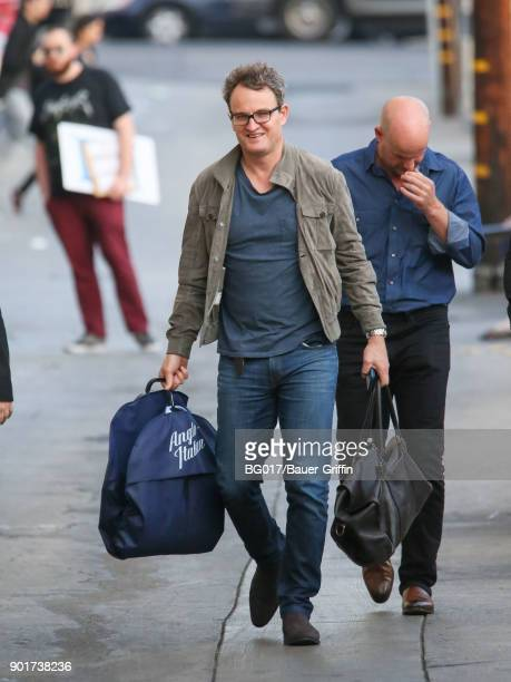 Jason Clarke is seen arriving at 'Jimmy Kimmel Live' on January 05 2018 in Los Angeles California