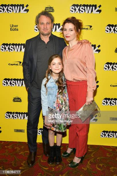 Jason Clarke Jeté Laurence and Amy Seimetz attend the 'Pet Sematary' Premiere 2019 SXSW Conference and Festivals at Paramount Theatre on March 16...