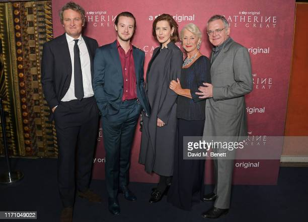 """Jason Clarke, Joseph Quinn, Gina McKee, Dame Helen Mirren and Kevin McNally attend the Premiere Screening of new Sky Atlantic drama """"Catherine The..."""