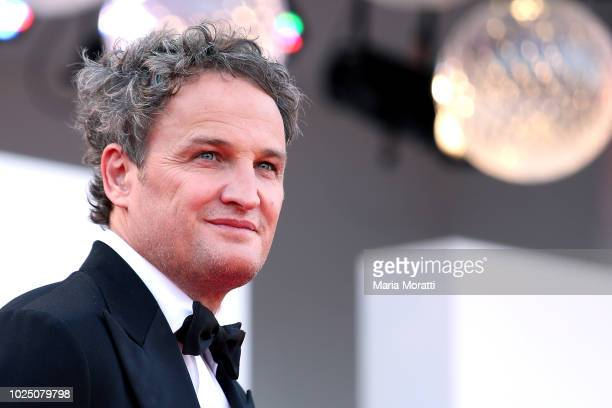 Jason Clarke walks the red carpet ahead of the opening ceremony and the 'First Man' screening during the 75th Venice Film Festival at Sala Grande on...