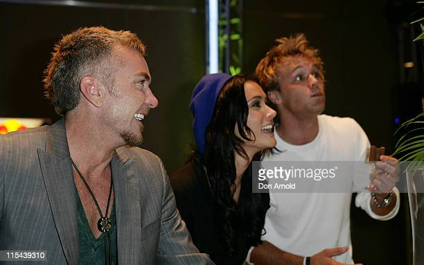 Jason Coleman Natalie Blair and Lincoln Lewis attend the 'Stuff That Rocks' Gift Villa at the Hilton Hotel on April 24 2008 in Sydney Australia