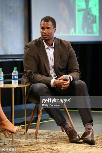 Jason Collins attends the Game Changers panel at the 4th Annual Bentonville Film Festival Day 4 on May 4 2018 in Bentonville Arkansas