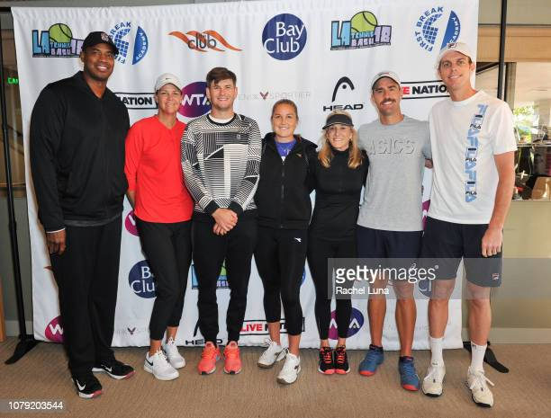 Jason Collins Lindsay Davenport Jared Donaldson Shelby Rogers Tracy Austin Steve Johnson and Sam Querrey attend the 2nd Annual LA Tennis Bash hosted...