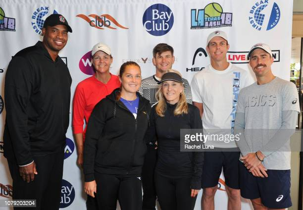 Jason Collins Lindsay Davenport Shelby Rogers Jared Donaldson Tracy Austin Sam Querrey and Steve Johnson attend the 2nd Annual LA Tennis Bash hosted...