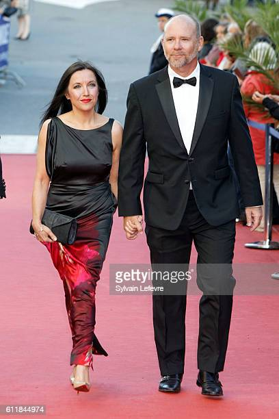 Jason Connery and his wife attend closing ceremony of 27th Dinard British Film Festival on October 1 2016 in Dinard France