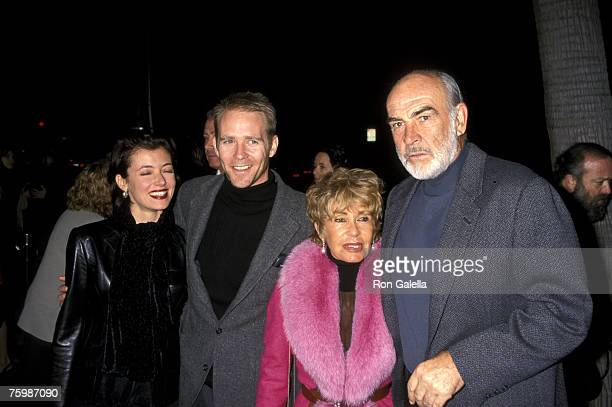Jason Connery and Wife Mia Sara and Sean Connery and Wife Micheline Roquebrune