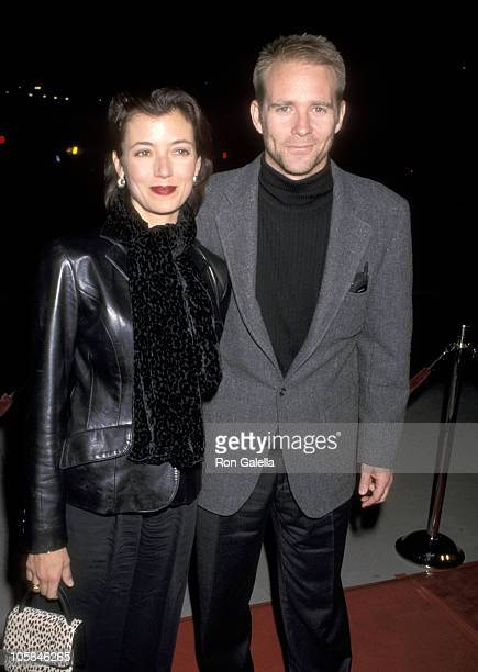 Jason Connery and Wife Mia Sara during Playing by Heart Premiere at The Academy in Beverly Hills California United States