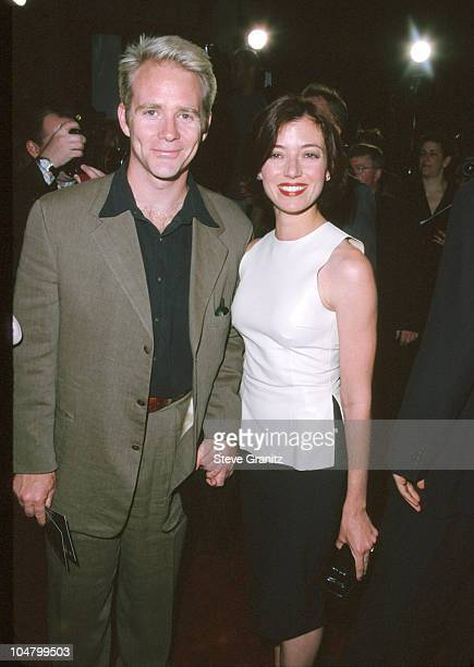 Jason Connery Mia Sara during Entrapment Hollywood Premiere at Mann Chinese Theatre in Hollywood California United States