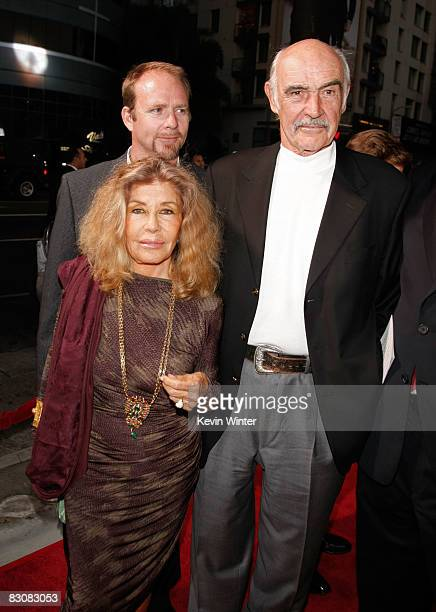 Jason Connery Micheline Roquebrune and actor Sir Sean Connery arrive at AFI's Night At The Movies presented by Target held at ArcLight Cinemas on...