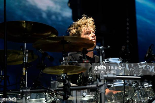 Jason Cooper of The Cure performs at Fiddlers Green Amphitheatre in Englewood Colorado on June 5 2016